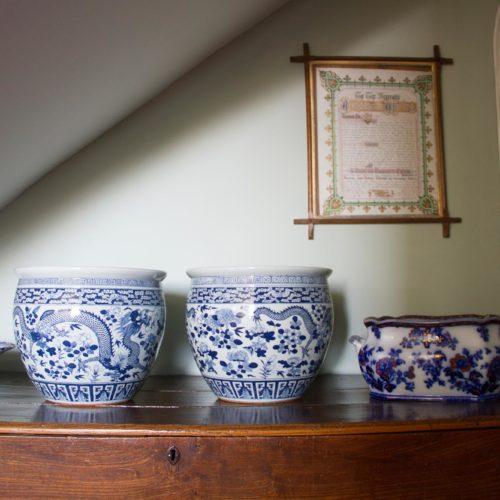 Ceramic vases on the landing at Homme House