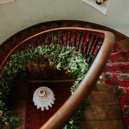 Flying staircase in the Hall at Homme House