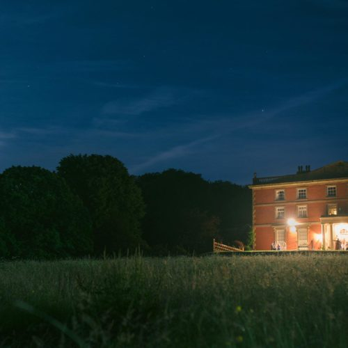 Homme House in the moonlight