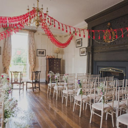 Panelled Room decorated for a Chinese wedding ceremony