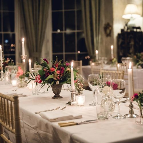A dinner party in the Dining Room at Homme House