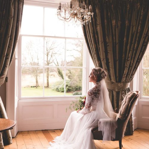 A Bridal portrait in the Bridal Suite at Homme House
