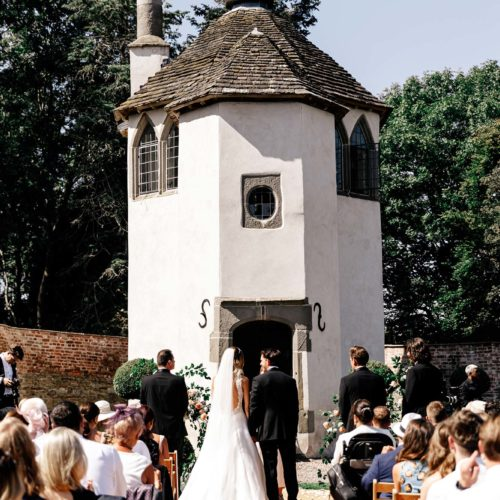 A ceremony in the Walled Garden at Homme House