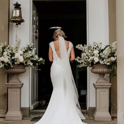 A bride enters Homme House