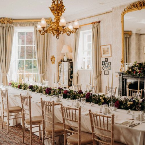 Banqueting table in the Dining Room